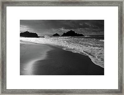 Big Sur Black And White Framed Print by Pierre Leclerc Photography