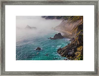 Big Sur Coastal Fog Framed Print by Garry Gay