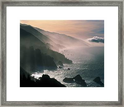 Big Sur Coastline Ca Usa Framed Print by Panoramic Images