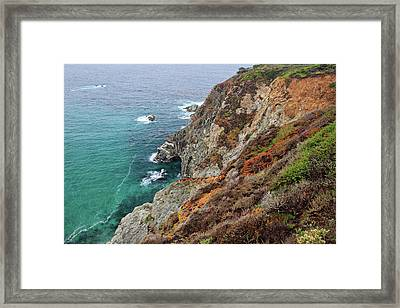 Big Sur Colorful Sea Cliffs Framed Print by Pierre Leclerc Photography