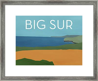 Big Sur Landscape- Art By Linda Woods Framed Print by Linda Woods