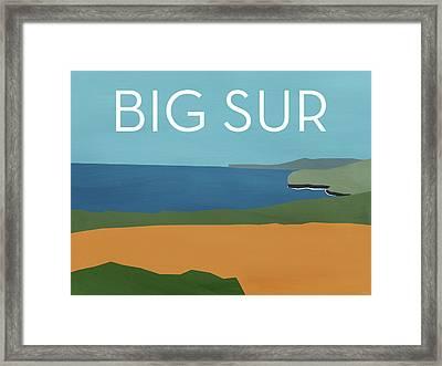 Big Sur Landscape- Art By Linda Woods Framed Print