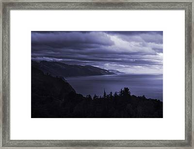 Big Sur Storm Framed Print by Matt  Trimble