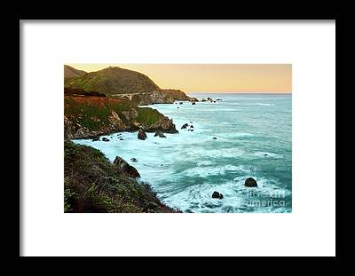 Cliff Framed Prints