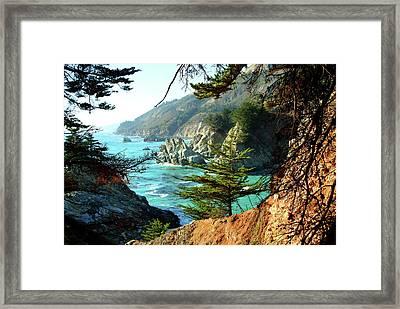 Big Sur Vista Framed Print by Charlene Mitchell