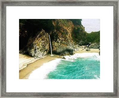 Big Sur Waterfall Framed Print by Jerome Stumphauzer