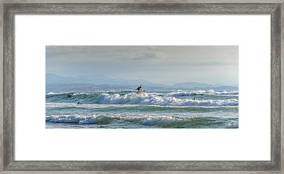 Big Surf Invitational I Framed Print by Thierry Bouriat