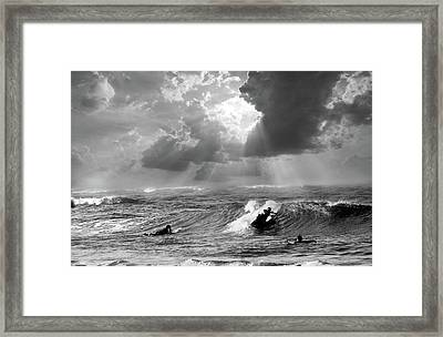 Big Surf Framed Print by John Hix