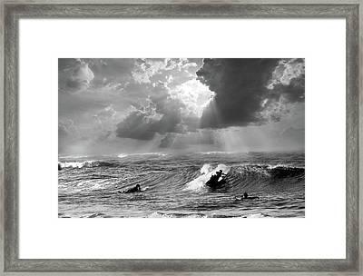 Big Surf Framed Print