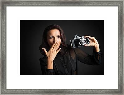 Big Surprise With Camera Framed Print