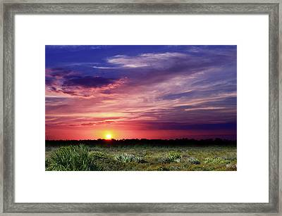 Big Texas Sky Framed Print
