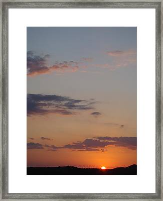 Big Texas Sky Three Framed Print by Ana Villaronga
