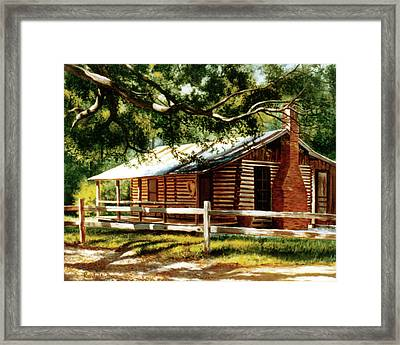 Big Thicket Information Center_the Staley Cabin Framed Print
