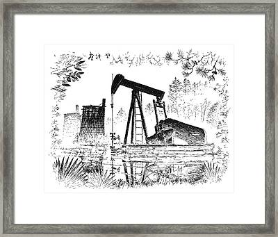 Big Thicket Oilfield Framed Print