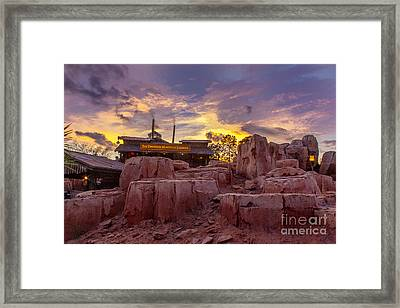Big Thunder Mountain Sunset Framed Print