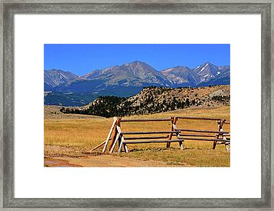 Big Timber Canyon Framed Print by Marty Koch