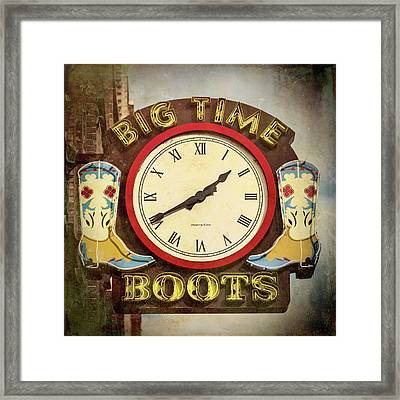 Big Time Boots - Nashville Framed Print