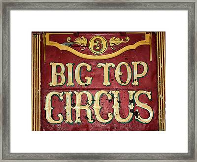 Big Top Circus Framed Print by Kristin Elmquist