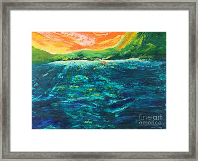 Big Tropical Wave Framed Print by Stella Sherman