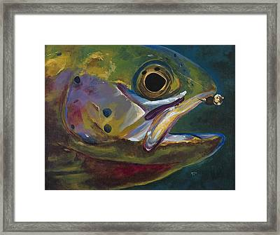 Big Trout Framed Print by Les Herman