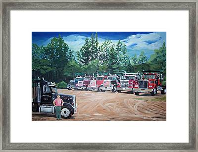 Big Trucks Framed Print
