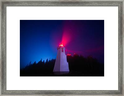 Big Tub Lighthouse In The Fog  Framed Print by Cale Best