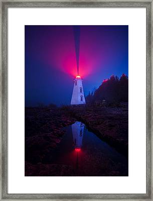 Big Tub Lighthouse Reflection Framed Print