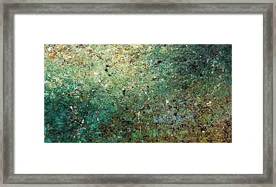 Framed Print featuring the painting Big Universe - Abstract Art by Carmen Guedez