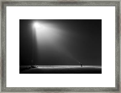 Big Vs Small Framed Print by Leif Londal