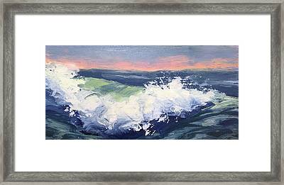 Big Wave #1 Framed Print by Mary Byrom