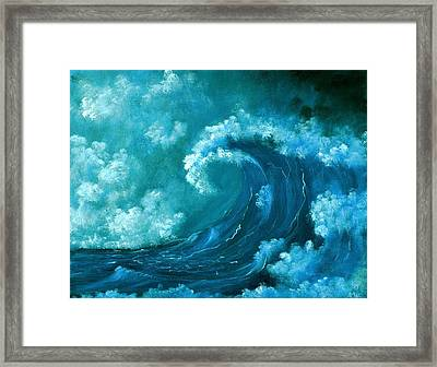 Framed Print featuring the painting Big Wave by Anastasiya Malakhova