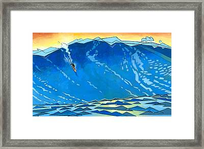 Big Wave Framed Print