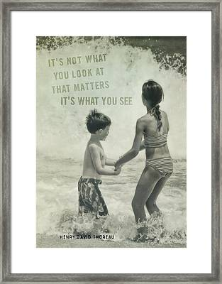 Big Wave Quote Framed Print by JAMART Photography