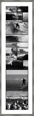 Big Wave Surfing Hawaii To California Framed Print by Brad Scott