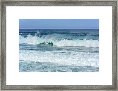 Framed Print featuring the photograph Big Waves by Marion McCristall