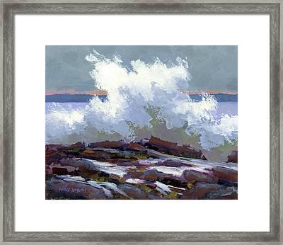 Big Waves On The Marginal Way Framed Print