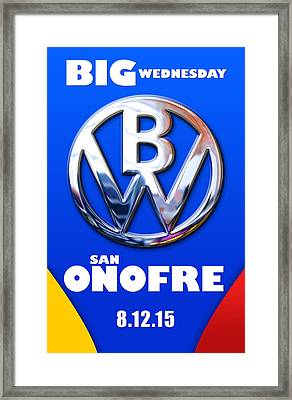 Big Wednesday Framed Print