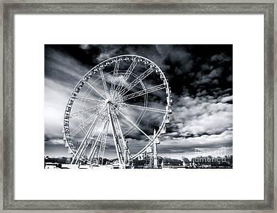 Big Wheel In Paris Framed Print by John Rizzuto