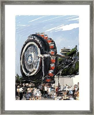 Big Wheel In The Sky Framed Print