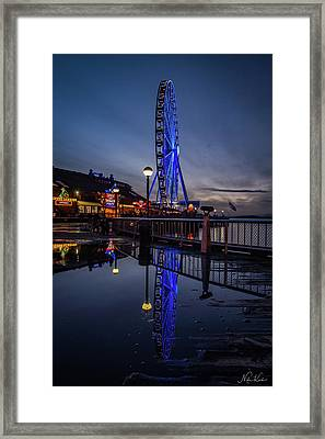 Big Wheel Reflection Framed Print
