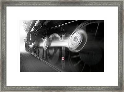 Big Wheels In Motion Framed Print by Mike McGlothlen