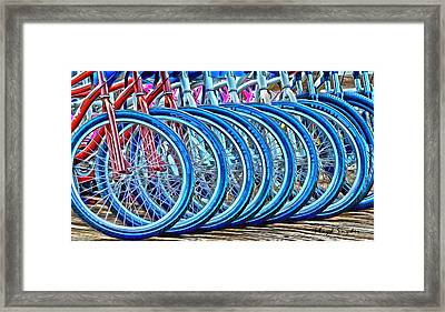 Big Wheels Psychedelic  Framed Print by Floyd Snyder