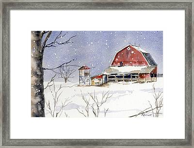 Big White Horse Framed Print