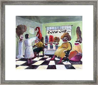 Big Wigs And False Teeth Framed Print