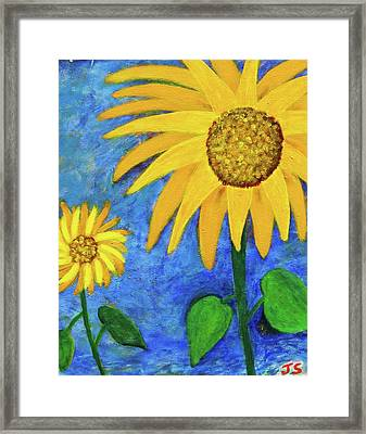 Framed Print featuring the painting Big Yellow by John Scates