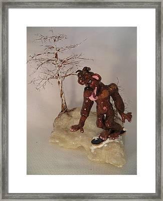Bigfoot On Crystal Framed Print by Judy Byington