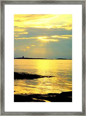 Have You Heard Of An Even Bigger World  Framed Print by Hilde Widerberg