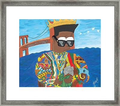 Biggie Bart  Framed Print
