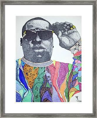 Biggie Biggie Biggie Framed Print by KeMonee Casey