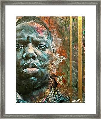 Biggie - Stick And Move Framed Print by Bobby Zeik